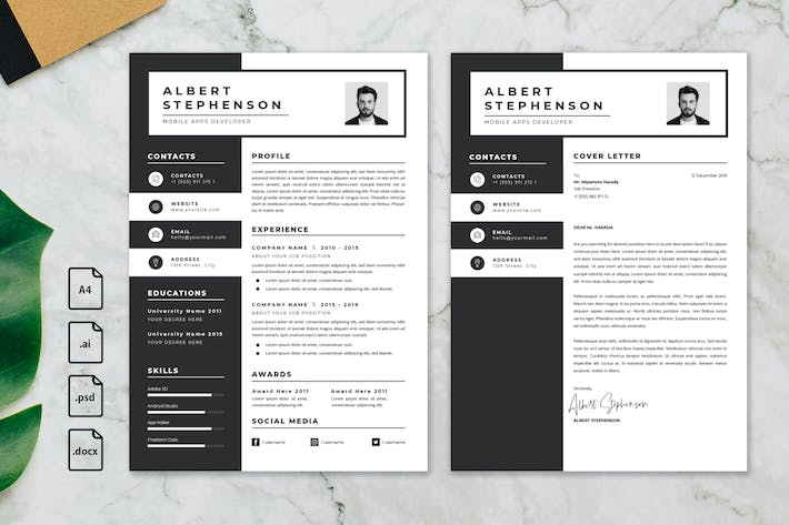 Thumbnail for Professional CV And Resume Template Albert