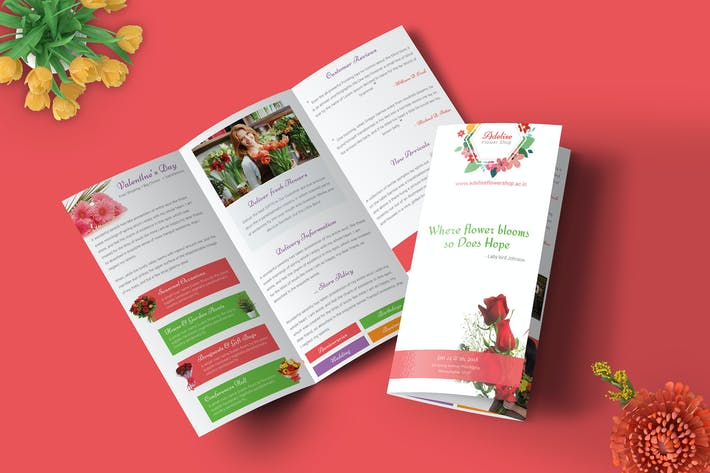 Thumbnail for Flower Bouquet Shop - Trifold Brochure