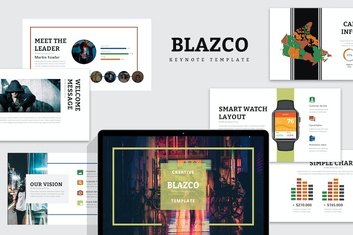Thumbnail for Blazco : Street Photo Keynote Template