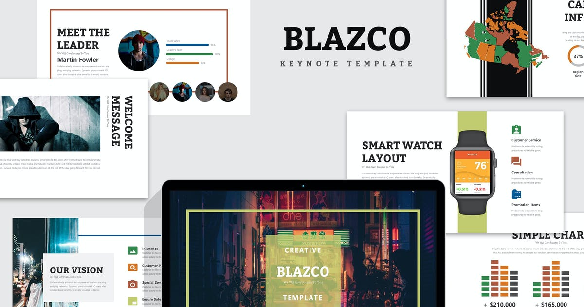Download Blazco : Street Photo Keynote Template by punkl