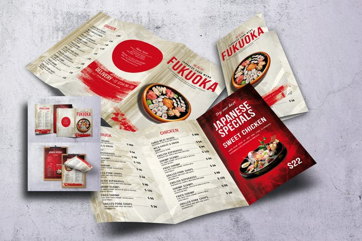 Thumbnail for Japanese Food Menu Bundle