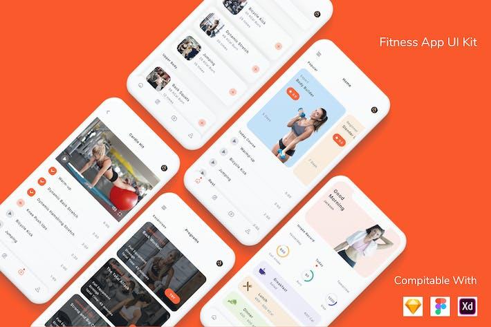 Thumbnail for Fitness App UI Kit