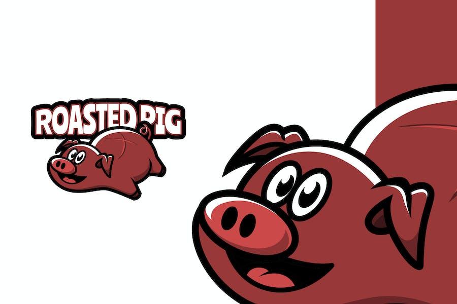 Roasted Pig - Food Mascot Logo Template