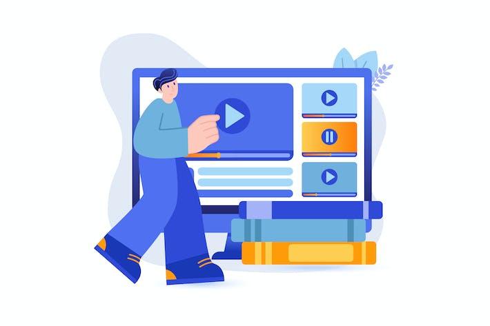 Videotutorials - Flat Concept