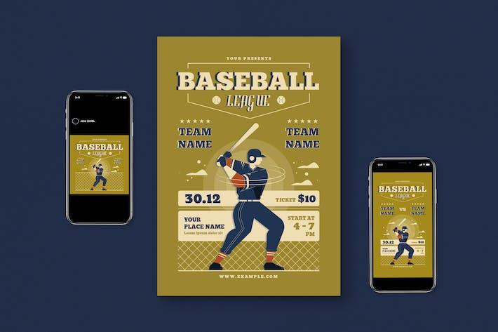 Thumbnail for Baseball League Flyer Set