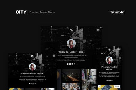 City | High Quality Portfolio Tumblr Theme