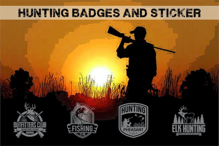 Thumbnail for hunting badges and sticker