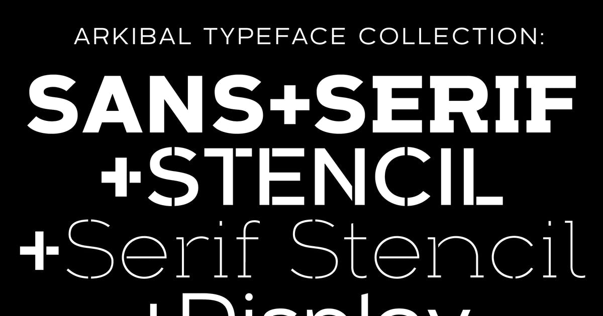 Download Arkibal Typeface Collection by jancbruun