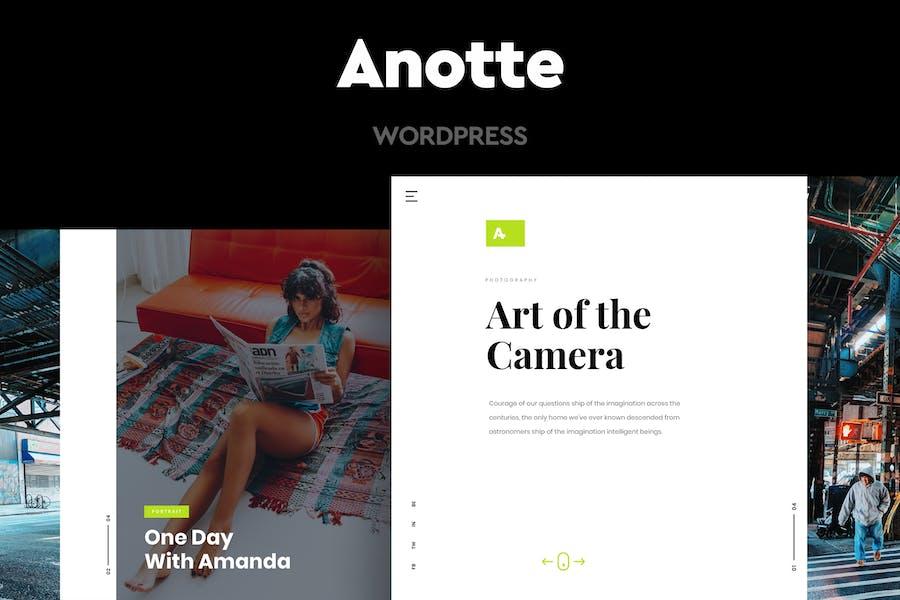 Anotte - Fotografía Horizontal WordPress Tema