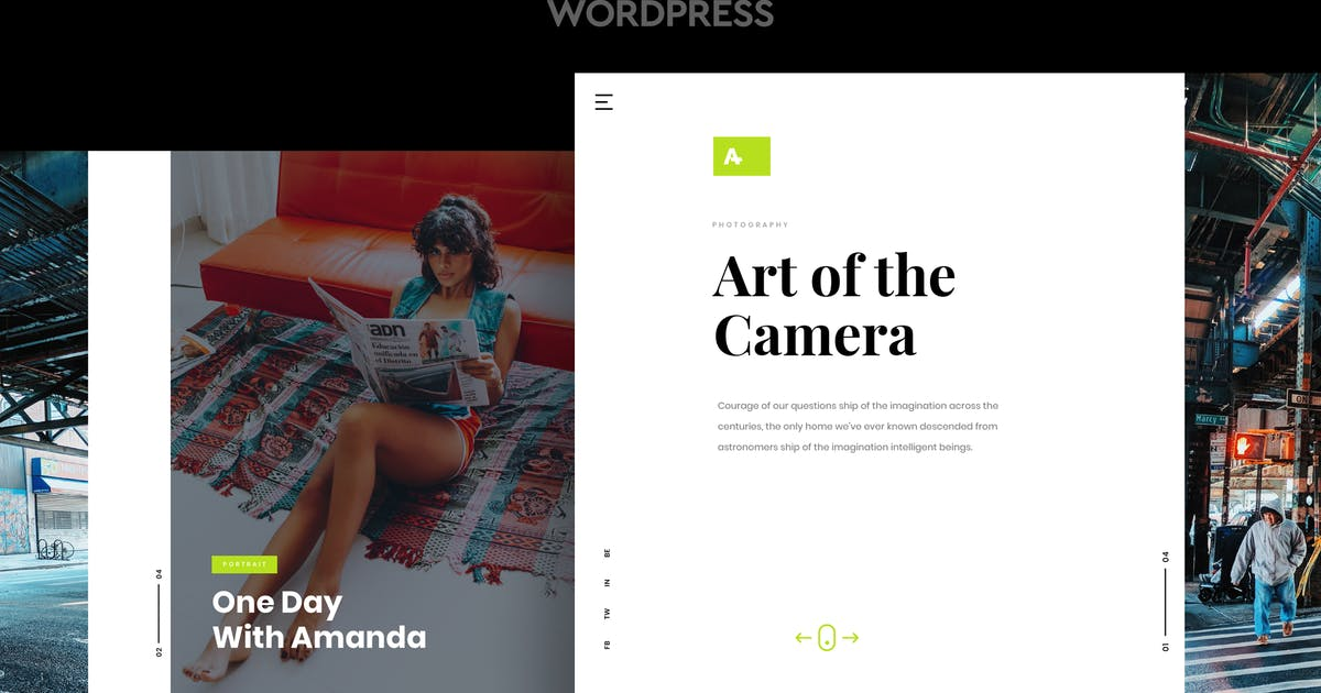 Anotte - Horizontal Photography WordPress Theme by CocoBasic