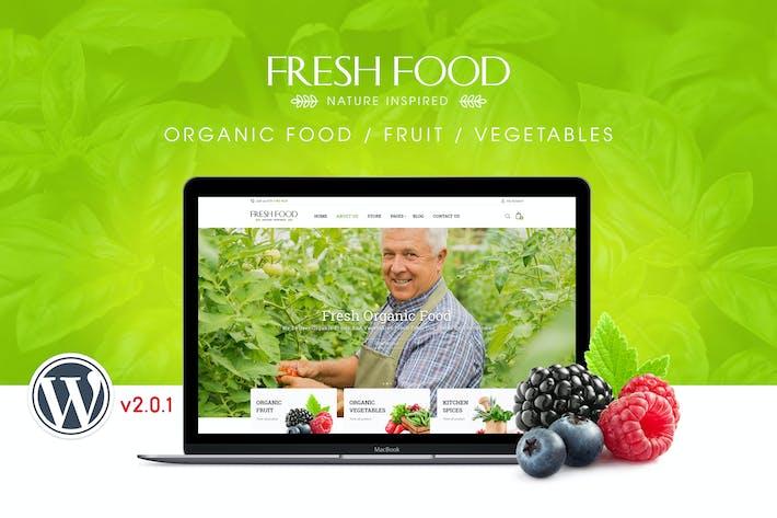 Thumbnail for FreshFood   Organic Food/Fruit WordPress Theme