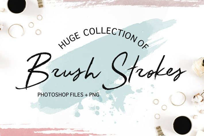 Thumbnail for 200 Photoshop Watercolor Brushes | BIG Collection