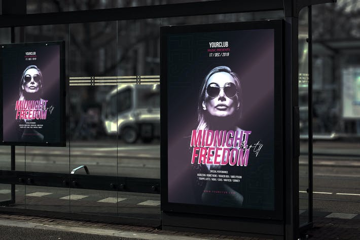 Thumbnail for Midnight Freedom Party - Poster YR