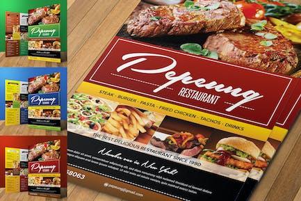 Colorfull Restaurant Menu Flyer