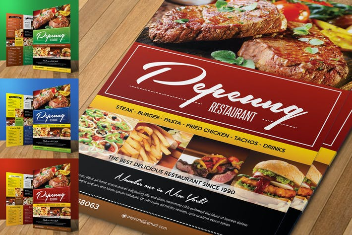 Thumbnail for Colorfull Restaurant Menu Flyer