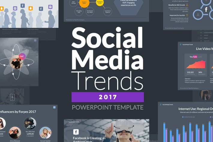 Social media trends 2017 powerpoint template by slidehack on social media trends 2017 powerpoint template toneelgroepblik Choice Image