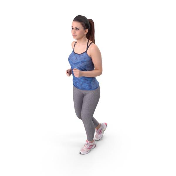 Woman Runner Posed