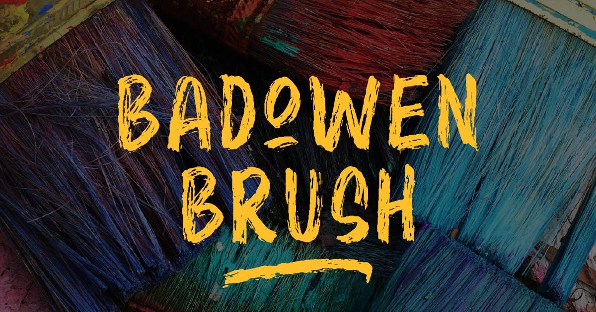 Download Badowen Brush Font by MartypeCo