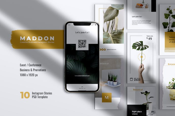 Thumbnail for MADDON Botanical Business Instagram Stories