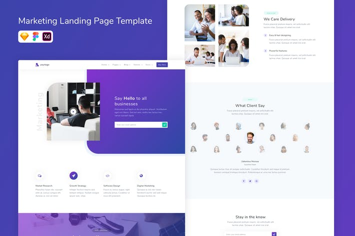 Thumbnail for Marketing Landing Page Template
