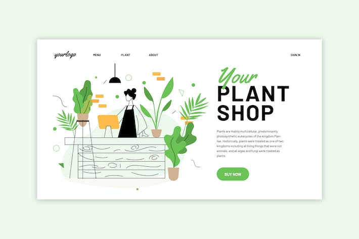Thumbnail for Plant Shop - Landing Page