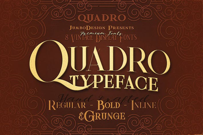 Thumbnail for Quadro - Display Font