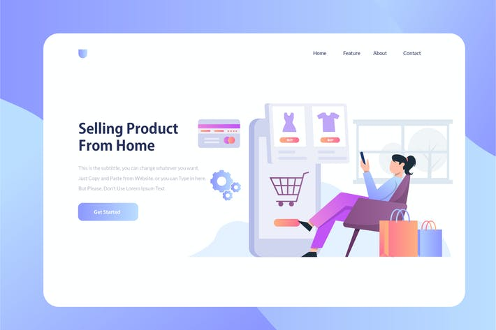 Thumbnail for E-Commerce Onboarding Illustration