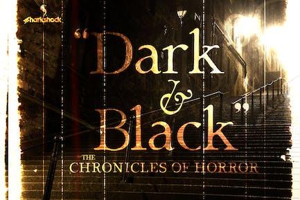 Negro y oscuro