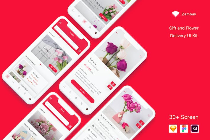 Thumbnail for Zambak - Gift and Flower Delivery App UI Kit