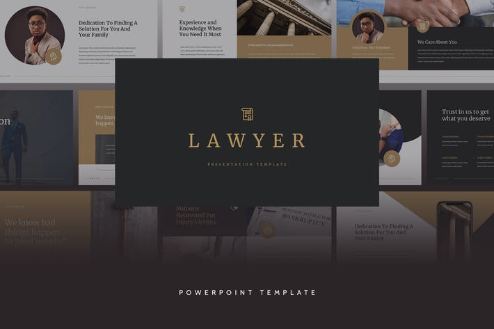 Thumbnail for Lawyer - Elegant CV Powerpoint Template