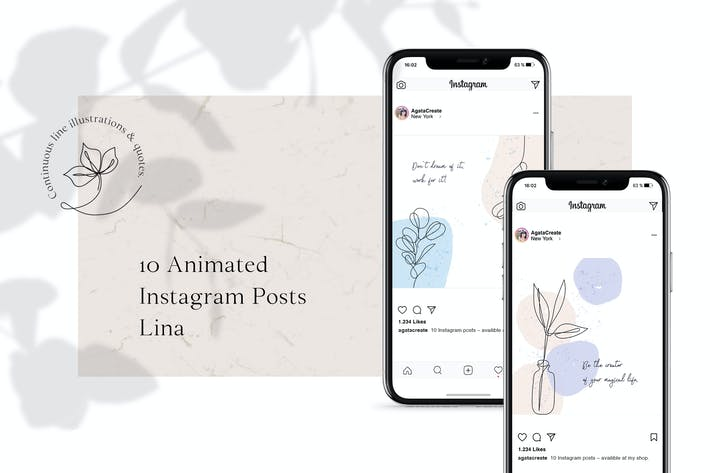 Thumbnail for ANIMATED Instagram Posts – Lina