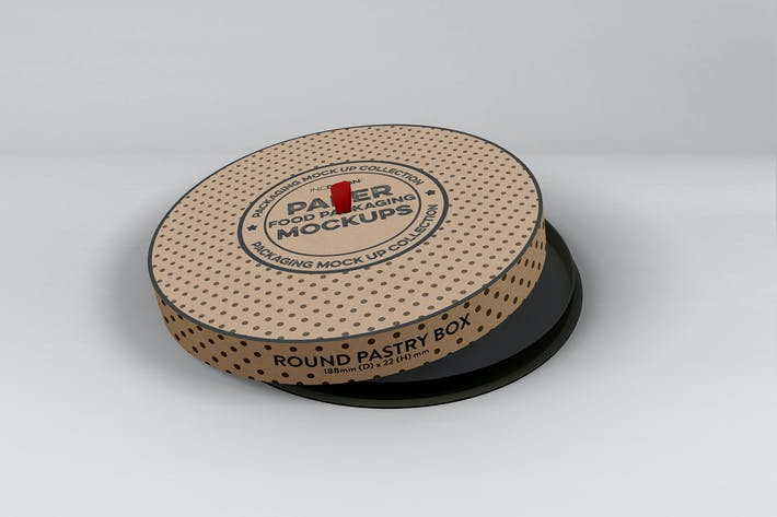 Thumbnail for Paper Round CakeBox Packaging Mockup