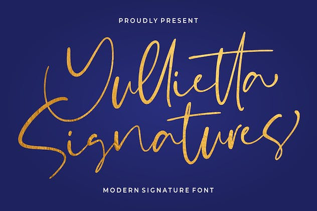 Yullietta - Modern Signature Font - product preview 0