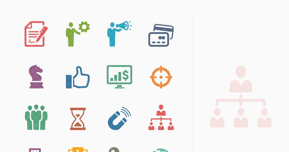 Download Business Icons Set 2 - Colored Series by introwiz1