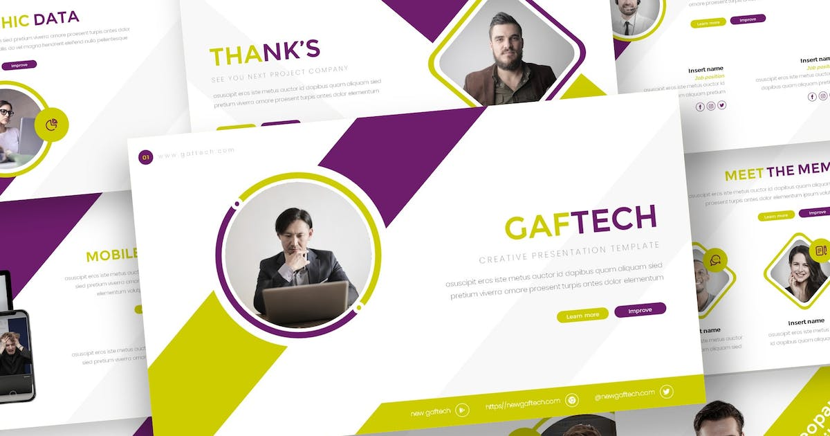 Download Gaftech - Creative Keynote Template by inspirasign