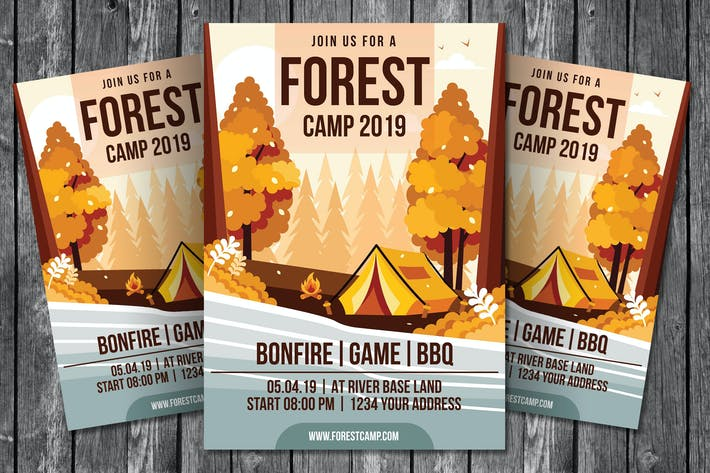 Thumbnail for Forest Camp Flyer Template