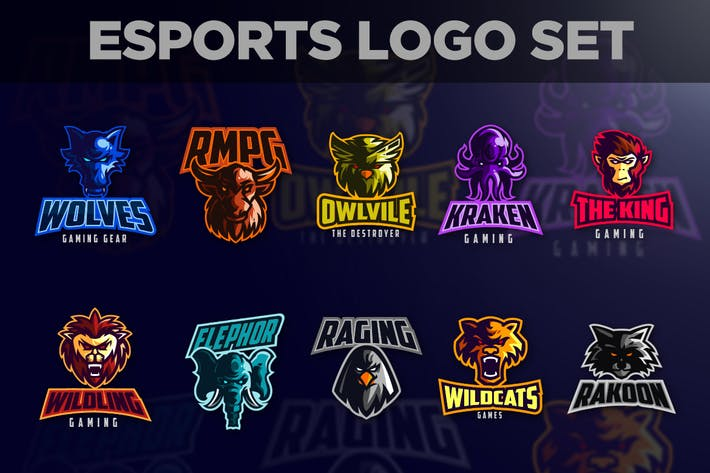 Thumbnail for Esports Animals Logo Set