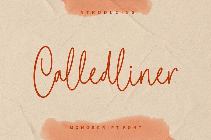 Thumbnail for Calledliner - Monoscript Font