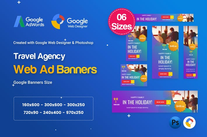 Thumbnail for Travel Agency Banners Ad D57 - GWD & PSD