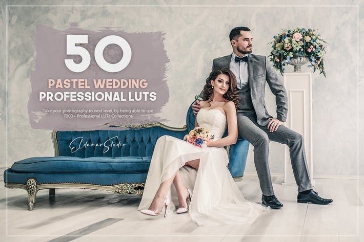 Thumbnail for 50 Pastel Wedding LUTs Pack