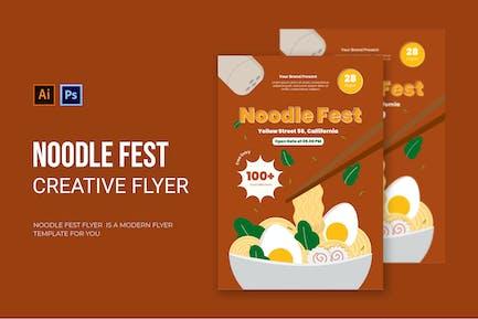 Noodle Fest - Flyer