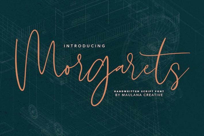 Thumbnail for Morgarets Script Font