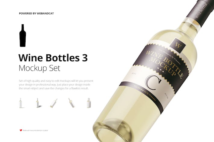 Thumbnail for Wine Bottle Mockup 3