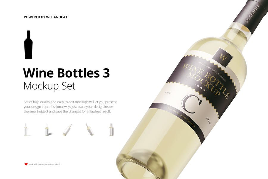Wine Bottle Mockup 3