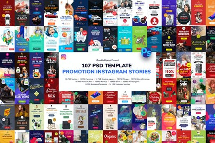 Promotion Instagram Stories PSD Template
