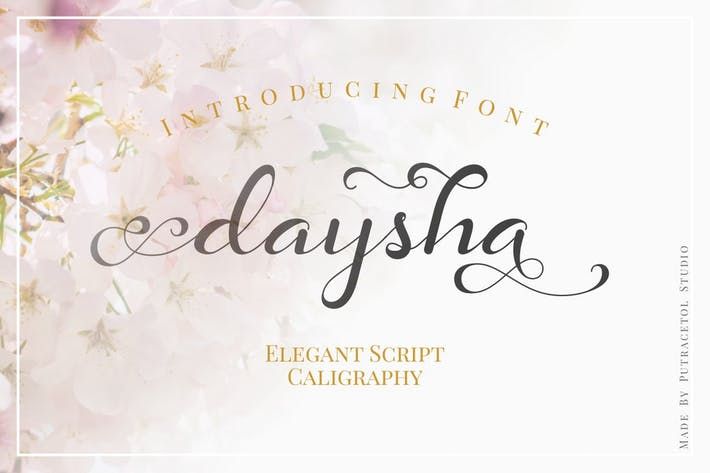 Thumbnail for Daysha - Wedding Elegant Script Calligraphy