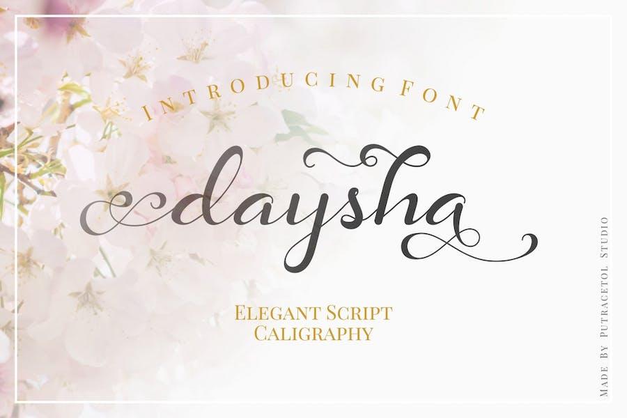 Daysha - Wedding Elegant Script Calligraphy