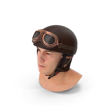 Marcus  with Retro Aviator Helmet