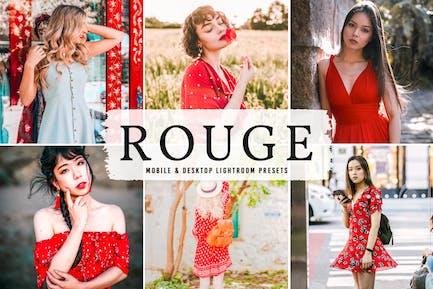 Rouge Mobile & Desktop Lightroom Presets