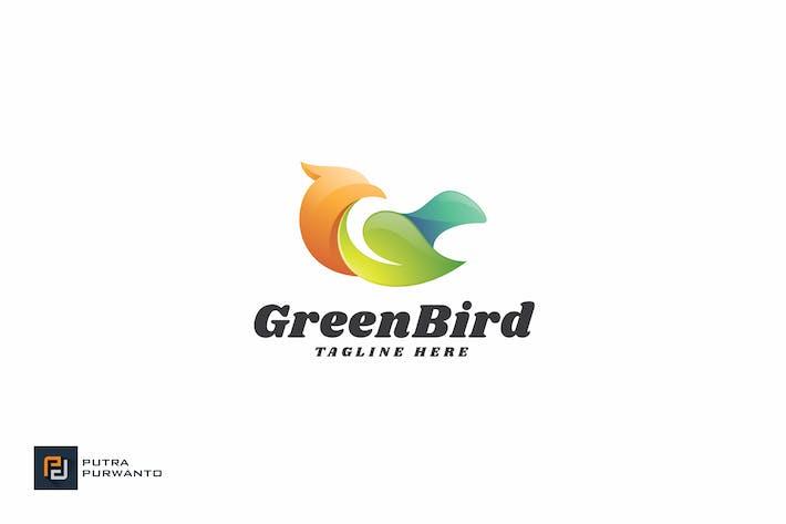 Cover Image For Green Bird - Logo Template